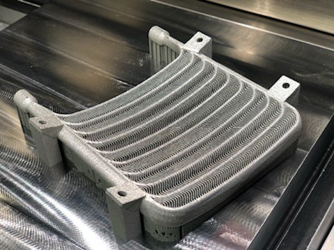 Titanium heat exchanger made by additive manufacturing on EOS machine
