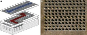Printed Circuit Heat Exchanger made by addition of  special plates